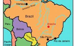 Brazil For Kids On Map 550 X 530 Pixels