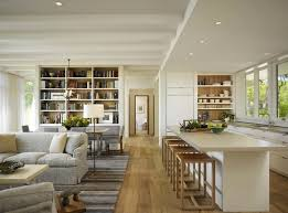 Minimalist Open Floor Kitchen Living Room Plans On Plan Small Space Furniture
