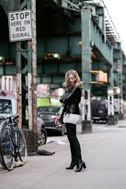 Sarah Mikaela Looks Smart And Stylish In This Cropped Black Leather Coat Matching Ankle Boots