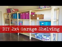 Build Wood Garage Shelf by Diy Garage Shelving Youtube