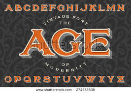 Vintage Font The Age Of Modernity Stylish Retro Art Nouveau Typeface With