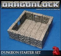 3d Printed Dungeon Tiles by 3ders Org Kickstarter For Dragonlock 3d Printed Dungeon Gaming