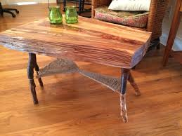 Woven Web Coffee Table made from wild cherry and bradford pear
