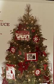 75 Ft PreLit Victoria Spruce Artificial Christmas Tree With Clear