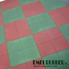Standard Square Rubber Tile Floor For Playground