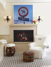 Living Room With Fireplace Design by Cozy Fireplaces Fireplace Decorating Ideas