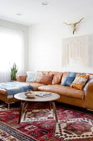 Darrin Leather Sofa Jcp by Living Room Vintage Rug Leather Sectional Leather Sofa Caramel