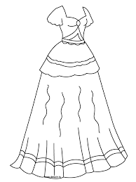 Great Dresses Coloring Pages 94 For Free Colouring With