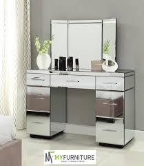 Hayworth Mirrored 3 Drawer Dresser by Furniture Vanity Tables With Mirror Mirrored Vanity Table Models
