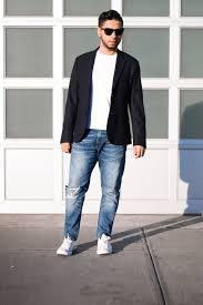 navy blazer 3 ways to wear how to alsenio