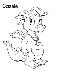 Dragon Tales School In The Sky Coloring Book Cassie