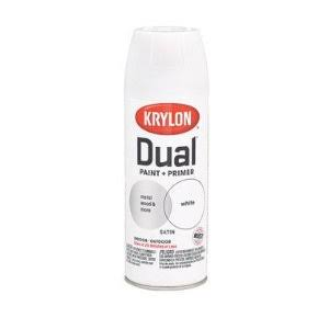 Krylon Aerosol Dual Paint and Primer - Satin White, 12oz