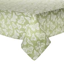 Green White Butterfly Jacquard Tablecloth From Christmas Tree Shops Under 7 For A 60x120 But Not Sold Online