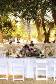 White Tablecloths Purple Garden Arrangements And Every Little Handmade Detail You Can Think Of Wedding Ideas