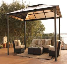 Walmart Suncast Patio Furniture by Outdoor Metal Framed Party Gazebo Metal Gazebo Kits Pinterest