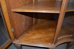 antique american oak corner china display cabinet china display