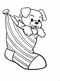 A Puppy In Christmas Stocking Coloring Page