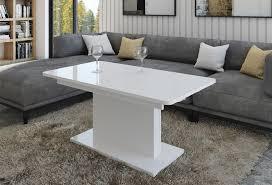 design couchtisch tisch dc 1 weiß hochglanz stufenlos höhenverstellbar ausziehbar esstisch