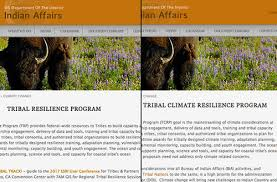 bia bureau of indian affairs climate change mentions are deleted from the bureau of indian