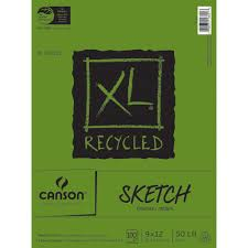 Amazon Canson XL Recycled Sketch Paper Pad 9