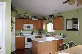 kitchen appealing green kitchen wall color with wooden cabinet