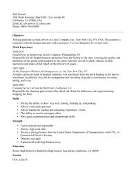 Truck Driver Resume Objectives With Work Experience And Skills Or ...