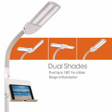 Ottlite Floor Lamp Instructions by Ottlite Dual Shade Led Floor Lamp With Usb Charging Station