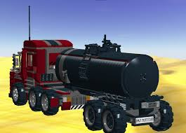 LEGO IDEAS - Product Ideas - Semi-Truck With Oil Tank Trailer