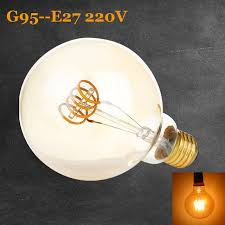 4w e27 g95 vintage edison filament led bulb dimmable