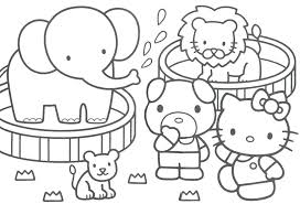 Full Image For Hello Kitty Christmas Coloring Pages Printable Free Online Baby