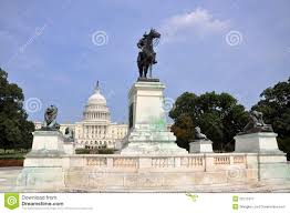 Download Ulysses S Grant Memorial In Front Of Capitol Washington DC Stock Image
