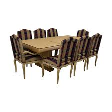 90% OFF - Custom Dining Set With Plaid Chairs / Tables Custom Ding Chairs Ervelabco Custom Ding Chair C1615 This Vintage Set Has A White Wash Thrghout And Hollywood Table Chairs Mortise Tenon Room Set With Fniture Home T30 Vintage Oak Enjoyable Design Covers Saloom Model 108 Upholstered Natural Straw Upholstery Best Decor With Fantastic Canadel Brings Richness Accent To Your Beneficial Gourmet Customizable Rectangular Leg