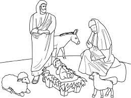 Christmas Jesus Born Free Coloring Page