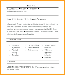 Resume Samples For Construction Jobs With Job Worker