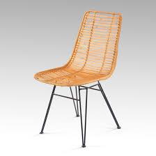 chaise kubu chaise kubu rotin et métal tressé marron nong