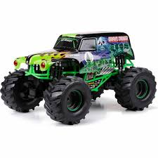 100 Monster Jam Toy Truck Videos New Bright 110 Radio Control FullFunction 96V Grave