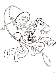 Раскраска Джесси And Булзай Рисунки Toy Story Coloring Pages
