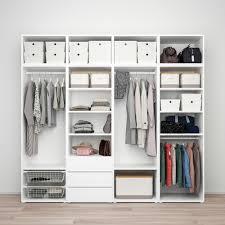 platsa kledingkast met 7 deuren 3 lades wit sannidal