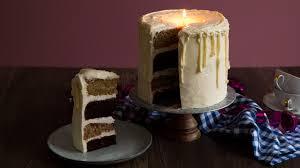 kerzen torte mit buttercreme haselnuss schokoböden