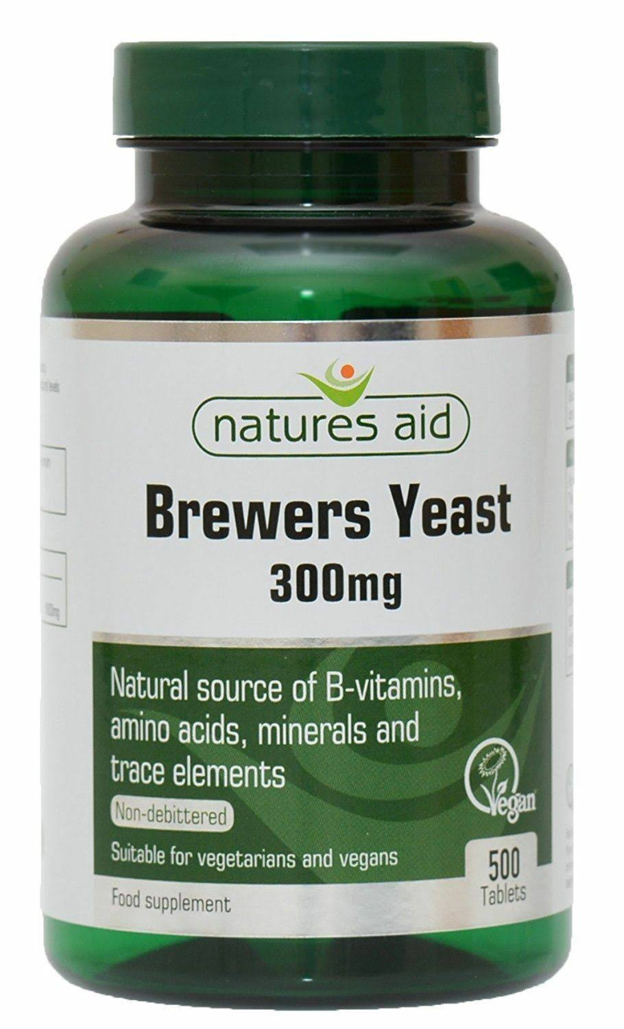 Natures Aid Brewers Yeast Food Supplement - 500 Tablets