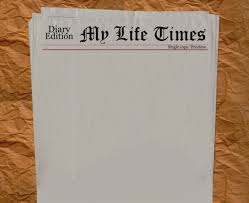 Newspaper Front Page Blank Template