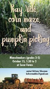 Nj Pumpkin Picking by Corn Maze Pumpkin Picking Hay Ride For Menschmakers Grades 3