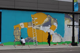 Big Ang Mural Chicago by Street Artist Jc Rivera Adapts Bear Champ Figure To Bears Mural