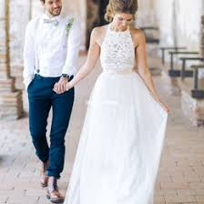 2017 New White Jewel Neck Lace Wedding Dresses Backless Tulle A Line Bridal Gown Bohemian For Garden Rustic Style Custom Made