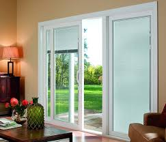Patio Door With Blinds And Pet Door by Pella Venetian White Full View Tempered Glass Blinds Between The