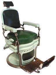 Koken Barber Chair Antique by Barber Chair Koken Mint Green Porcelain W Dark Green Upholstery