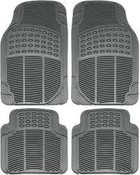 100 Heavy Duty Truck Floor Mats All Weather Rubber Semi Custom 4pc Set