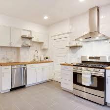 modern white subway tile kitchen mercury mosaics