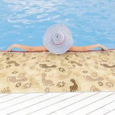 huis badematte badvorleger badteppich fußabdrücke beige 65cm
