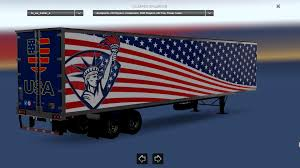 100 Trucks And Trailers Usa USA Flag Combo Pack ATS Mods American Truck Simulator Mods